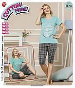 Пижама женская футболка и капри хлопок разные цвета т.м Коттон Море Турция № 49764