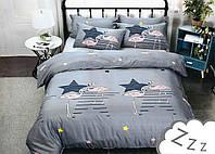 Комплект постельного белья Сатин Dalwin 153 M&M 2692 Серый, Синий, Желтый