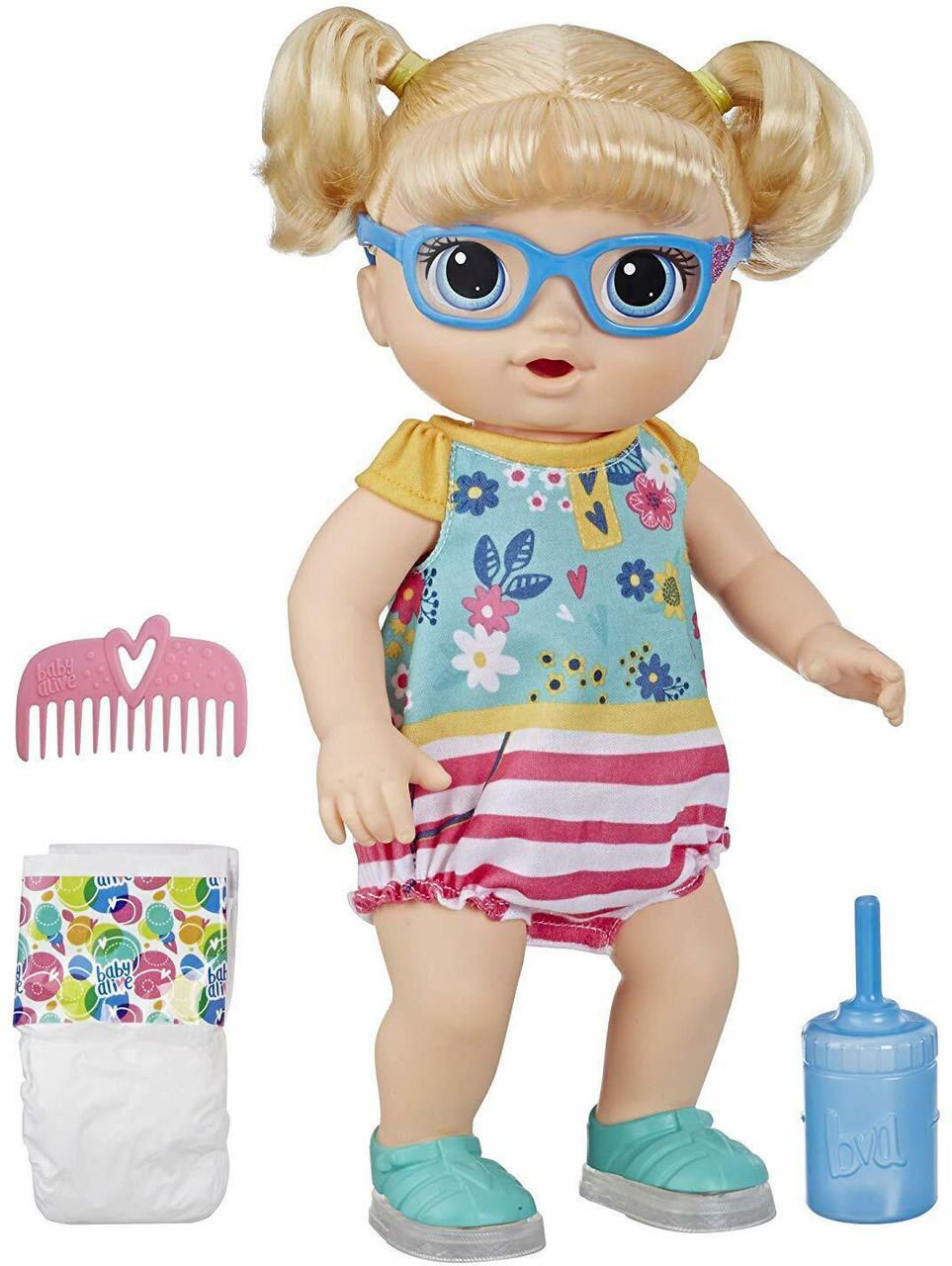 Hasbro BABY ALIVE Kукла Беби Элайв Малышка Блонди Умеет Ходить