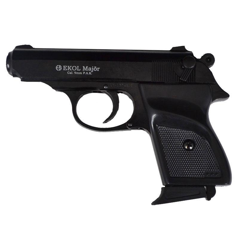 Пистолет сигнальный, стартовый Ekol Major (9.0мм), черный