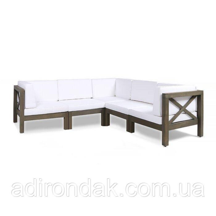 Набор садовой мебели из 5 секций с подушками