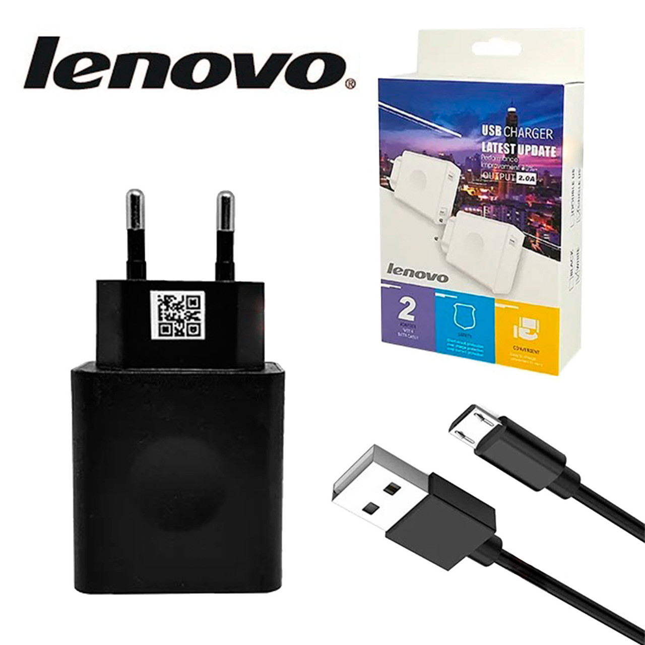 Сетевое зарядное устройство Lenovo Micro USB 2in1 1USB Port 2.0A