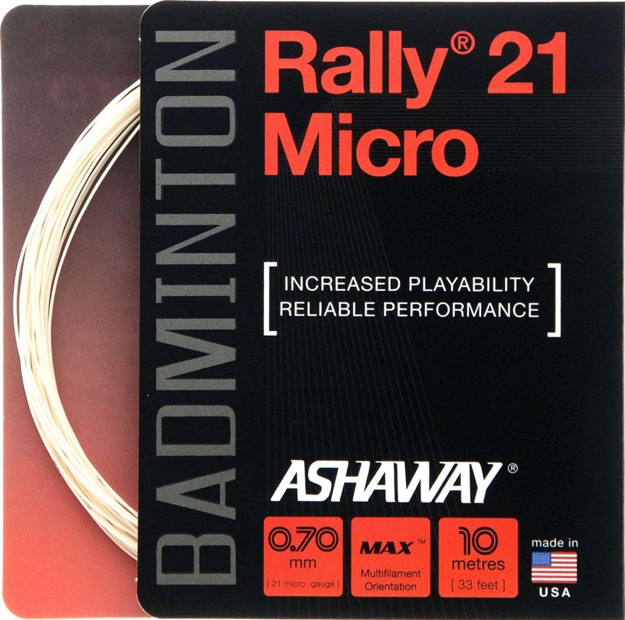 Струна ASHAWAY Rally Micro 21 (10m)
