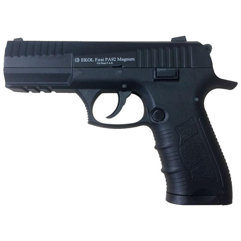 Пистолет сигнальный, стартовый Ekol Firat PA92 Magnum (9.0мм), черный