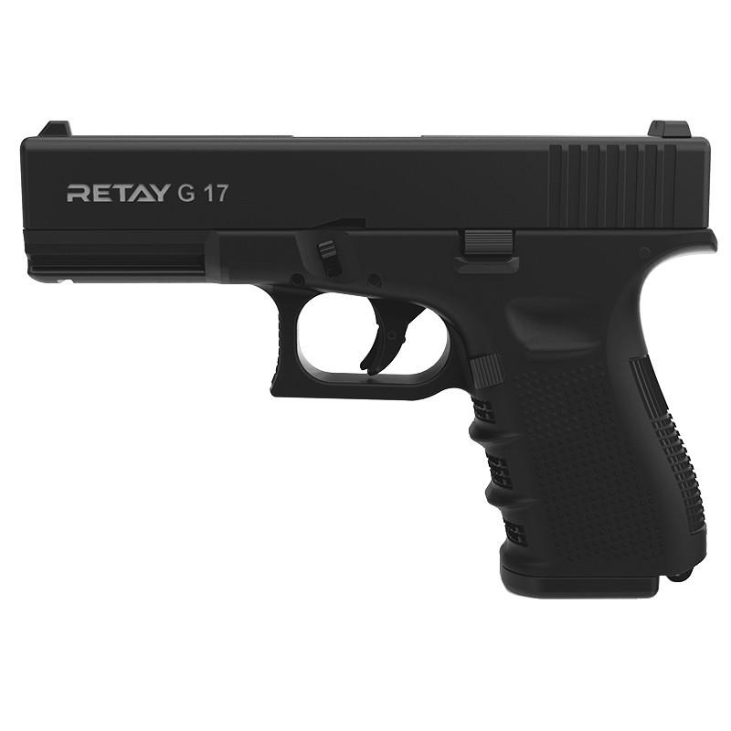 Пистолет сигнальный, стартовый Retay Glock G 17 (9мм, 14 зарядов), черный