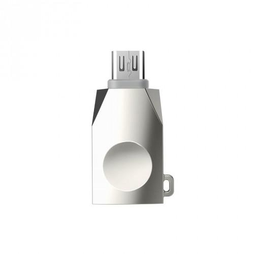Кабель синхронизации HOCO UA10 OTG microUSB Pearl Nickel