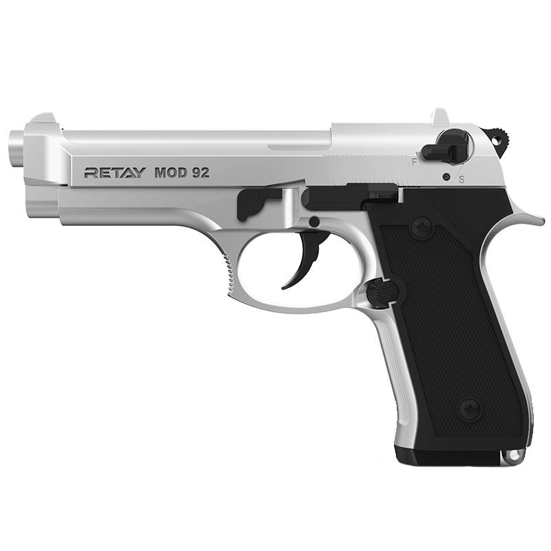 Пистолет сигнальный, стартовый Retay Beretta 92FS Mod.92 (9мм, 15 зарядов), титан
