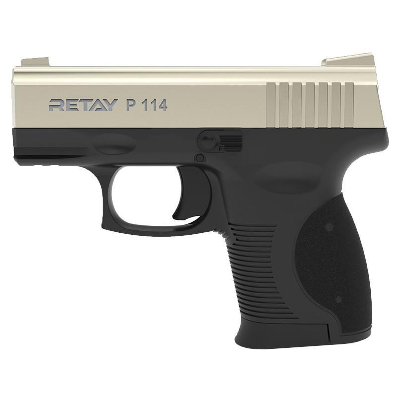 Пистолет сигнальный, стартовый Retay P114 (9мм, 6 зарядов), сатин
