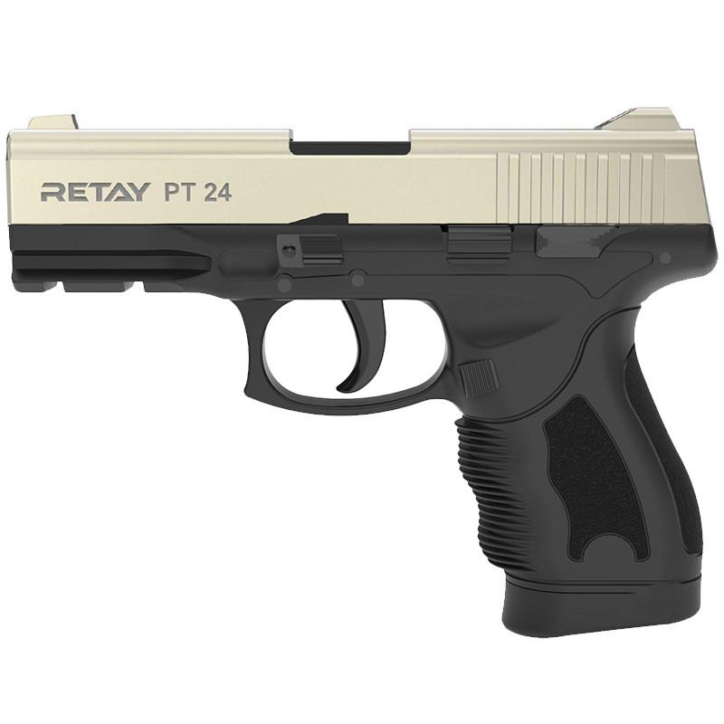 Пистолет сигнальный, стартовый Retay Taurus PT24 (9мм, 15 зарядов), сатин
