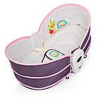 Детская люлька-качалка 6033 серо-розовая ***, фото 5