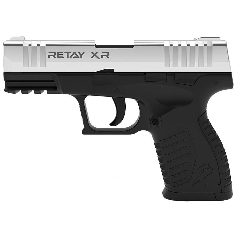 Пистолет сигнальный, стартовый Retay XR (9мм, 14 зарядов), никель