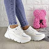 Кроссовки женские белые эко - кожа, фото 6