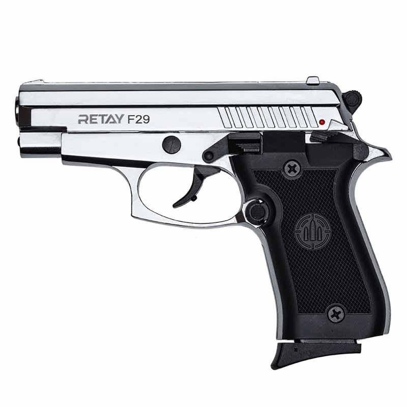 Пистолет сигнальный стартовый Retay F29 (9мм, 10 зарядов), никель