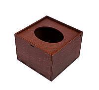 Деревянная Барная Салфетница Органайзер Фанера дерев'яна серветниця из дерева ЛОГО Махагон Венге