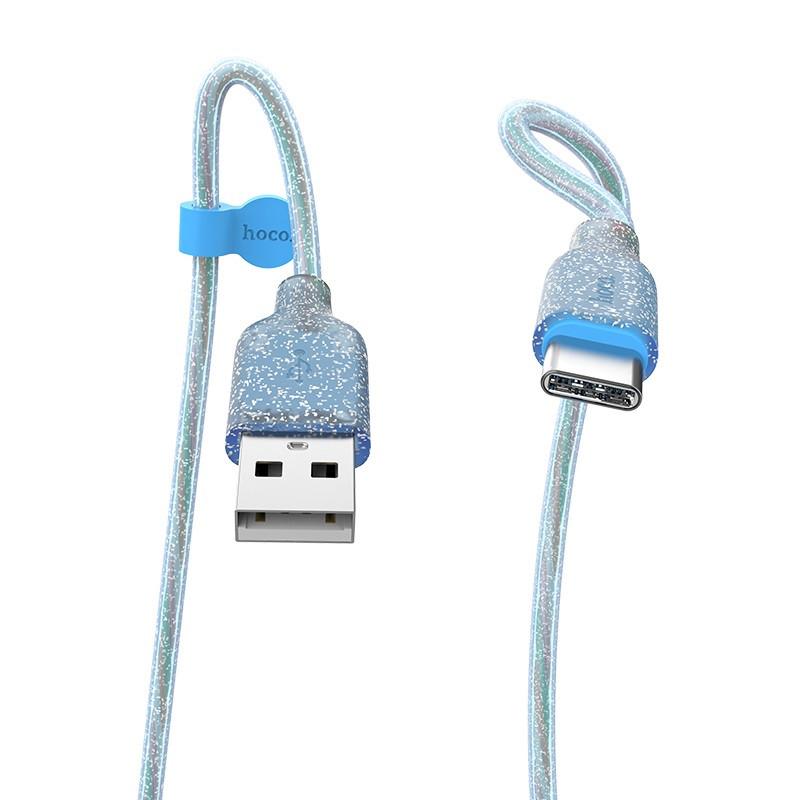 Кабель синхронізації HOCO U73 Star Galaxy Silicone Type-C Cable 1m Blue