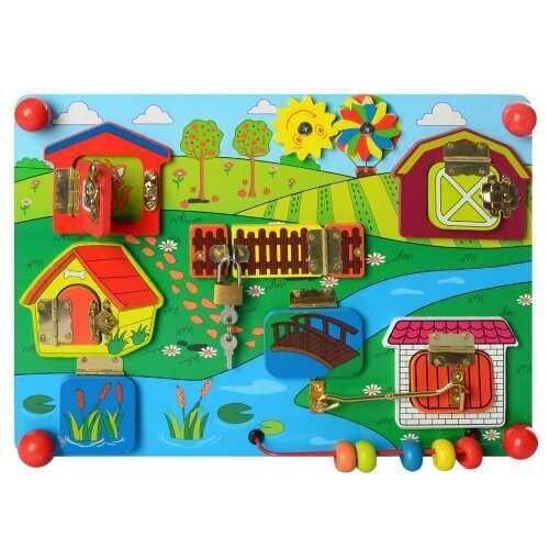"Деревянная игрушка Бизиборд ""Ферма"" MD 2054"