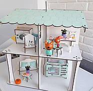 Комплект постельного белья (хлопок) на три спальных места для кукол LOL (ЛОЛ), 9 ед., фото 6