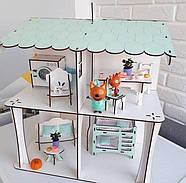 Комплект постельного белья (хлопок) для кукольного домика для кукол LOL (ЛОЛ), 6 ед., фото 5