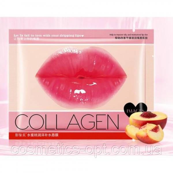 Коллагеновые патчи для губ с экстрактом персика IMAGE Beauty Collagen Peach