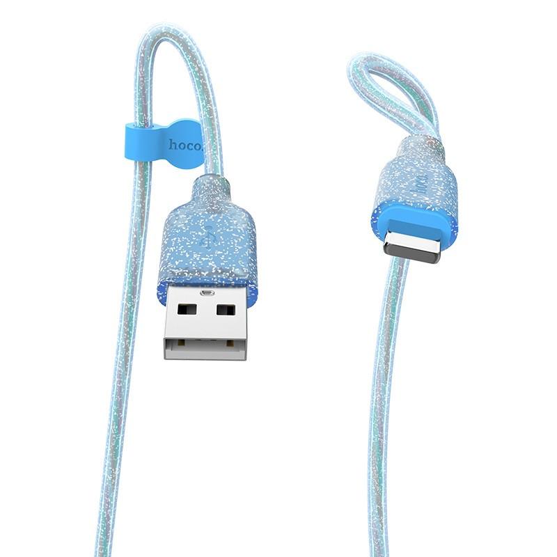 Кабель синхронізації HOCO U73 Star Galaxy Silicone Lightning Cable 1m Blue