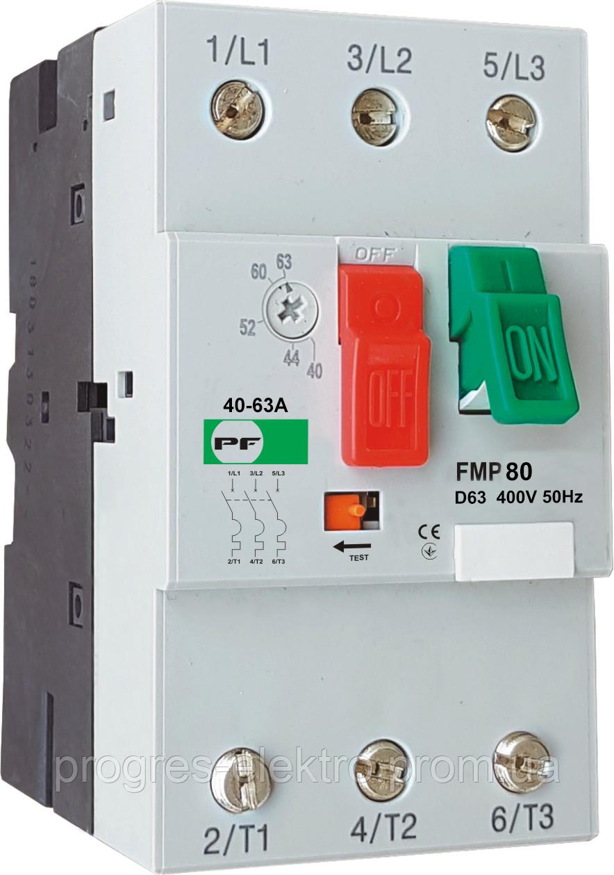Автомат защиты двигателя FMP80  D63 (40-63A) Promfactor