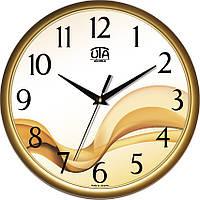 Часы настенные UTA Сlassic 300 х 300 х 45 мм в золотом ободе