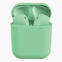 Беспроводные сенсорные наушники HBQ inPods 12 Macarons Touch Green, фото 1