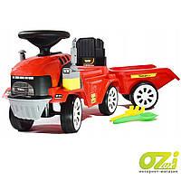 Детская машинка-каталка трактор JR-916A-1 красный