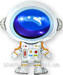 Шар (34''/86 см) Фигура, Космонавт, 1 шт.