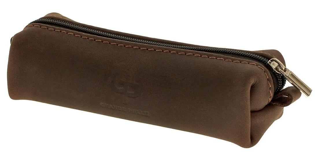Ключница из матовой коричневой кожи Grande Pelle (402120)