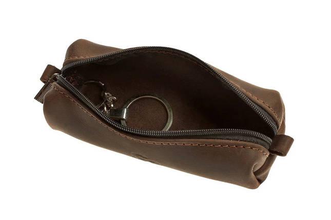Ключница из матовой коричневой кожи Grande Pelle (402120), фото 2