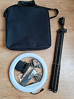 Кольцевая лампа 32 см, Led 3 режима света, сумка, пульт, штатив 30 Вт