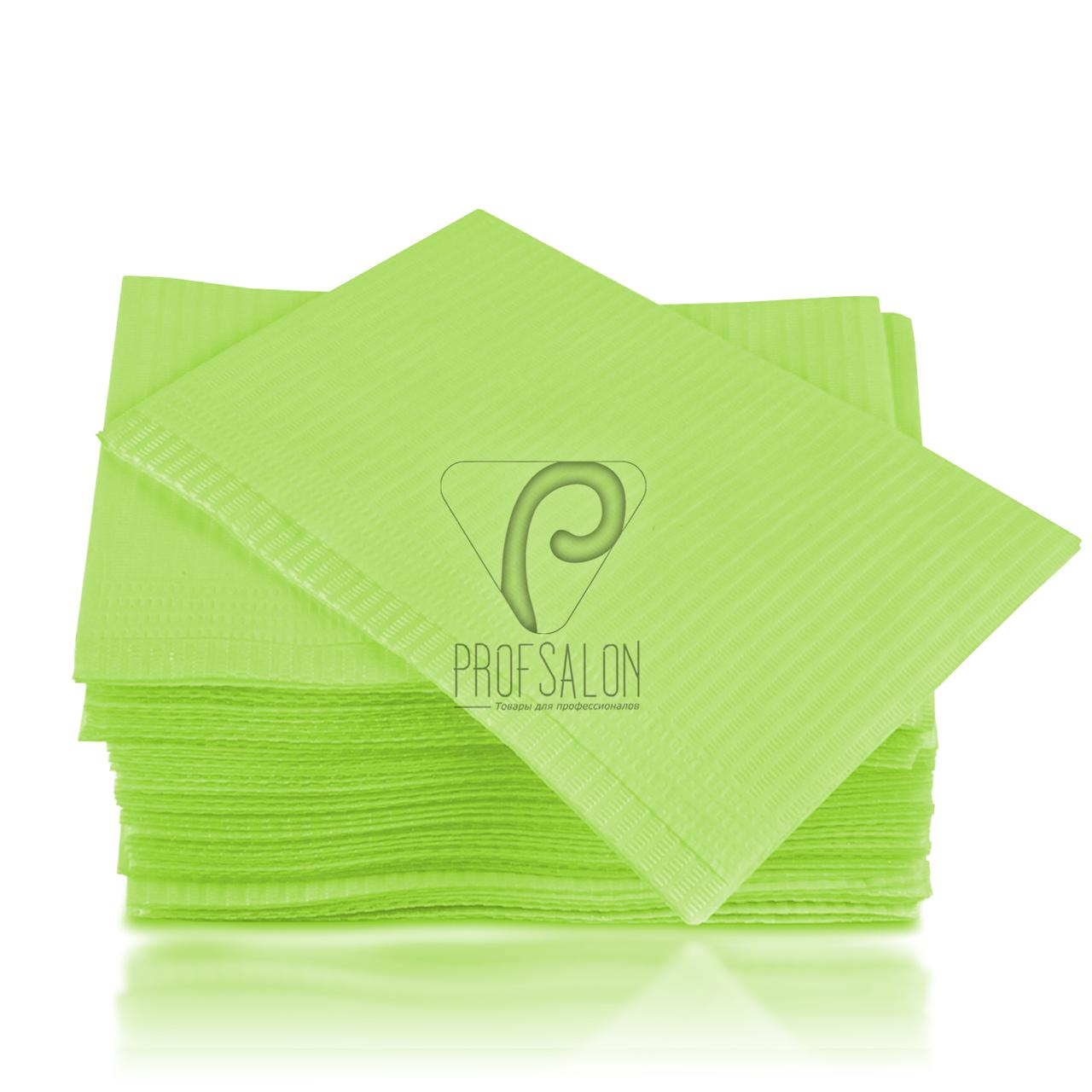 Непромокаемые салфетки на рабочий стол мастера маникюра, 125 шт, 45х32см, лаймовые