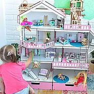 """Большой игровой набор NestWood """"Дом приключений"""" розовый для кукол ЛОЛ с мебелью и аксессуарами, фото 2"""
