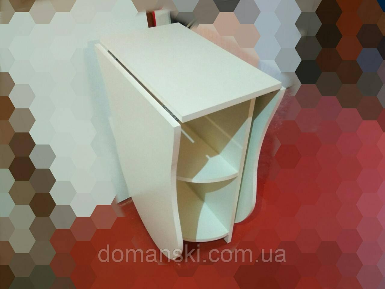 Маникюрный стол на два мастера  с фигурной столешницей. Стол для маникюра раскладной .
