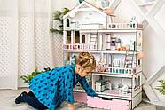 """Кукольный домик NestWood модный """"Большой особняк для кукол ЛОЛ"""" + Подарок мебель 9 ед., фото 5"""