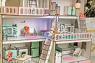 """Кукольный домик NestWood модный """"Большой особняк для кукол ЛОЛ"""" + Подарок мебель 9 ед., фото 7"""
