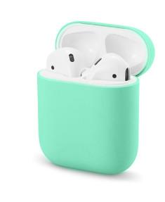 Силиконовый чехол Ultra Slim Mint Green для наушников Airpods/Аналогов