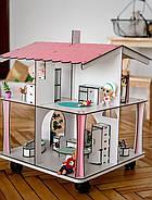 Кукольный домик NestWood 4х-сторонний для ЛОЛ на подставке с колесиками, фото 2