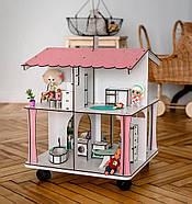 Кукольный домик NestWood 4х-сторонний для ЛОЛ на подставке с колесиками, фото 3