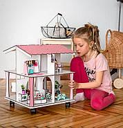 Кукольный домик NestWood 4х-сторонний для ЛОЛ на подставке с колесиками, фото 4