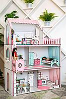 """Кукольный домик для Барби NestWood """"ЛЮКС"""" с лифтом 5 комнат (104см), без мебели"""