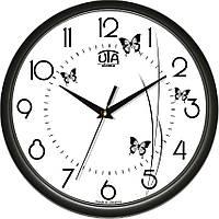 Часы настенные UTA Сlassic 300 х 300 х 45 мм в чёрном ободе