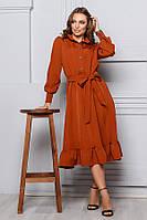 Платье с оборкой на юбке р. S M L, фото 1
