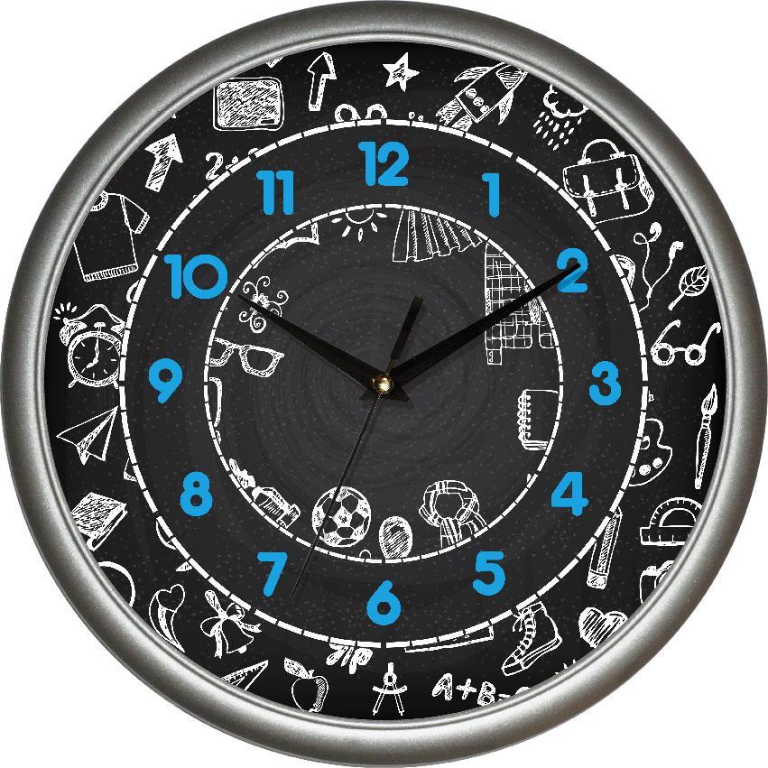 Часы настенные UTA Сlassic 300 х 300 х 45 мм в серебристом ободе