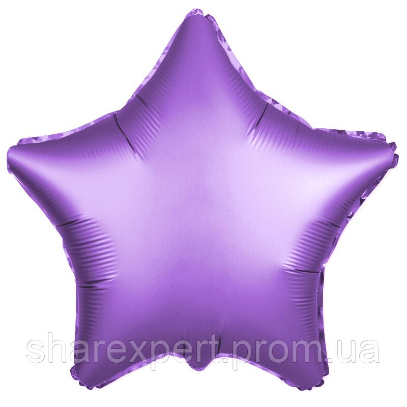 Шар (21''/53 см) Звезда, Фиолетовый, Сатин, 1 шт.