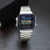 Наручные часы с сталным корпусом Casio Illuminator Silver-Black