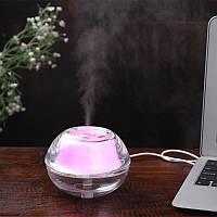 Увлажнитель воздуха USB, ароматический диффузор Crystal Night Light