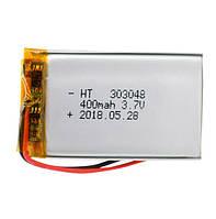 Батарея 400mAh 3.7V 303048 Литий-Полимер Аккумулятор для MP3 Плеера GPS Видеорегистратора