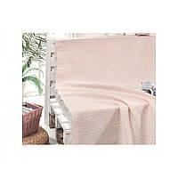 Покрывало хлопковое Eponj Home - Cizgili Pudra розовый 180*230
